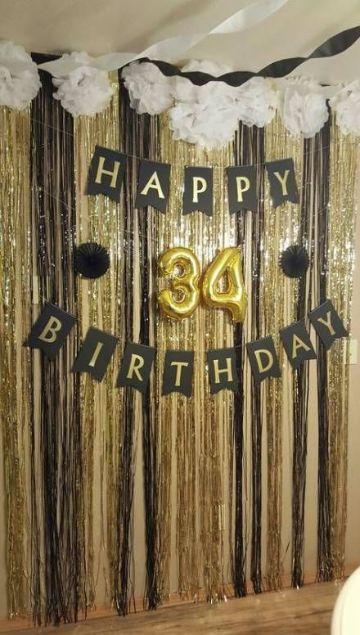 decoracion de pared para cumpleaños de 30