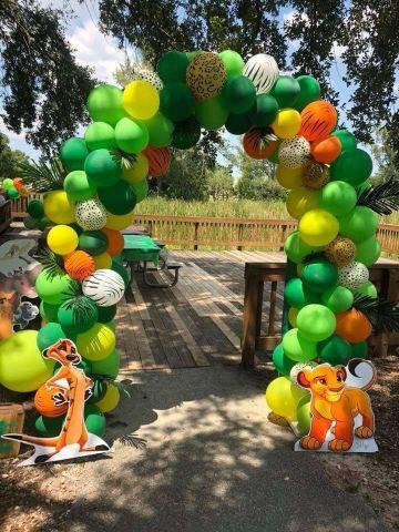 decoracion del rey leon para cumpleaños