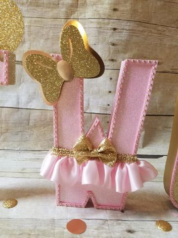 decoracion tematica minnie golden