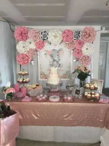 decoraciones para baby shower de niña en casa