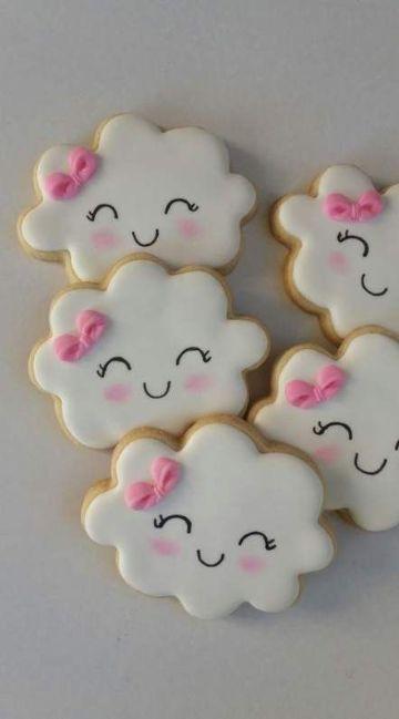 decoraciones para baby shower de niña para galletas