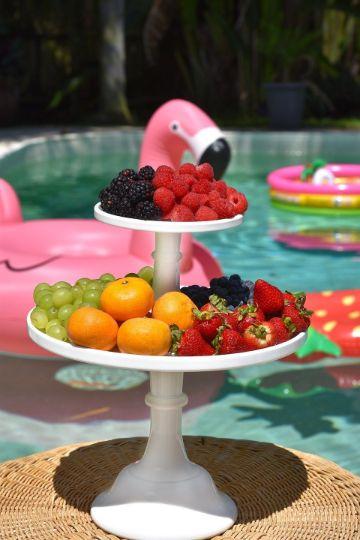 dulces para fiesta de quince años en piscina