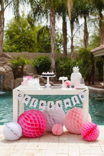 estilos de fiesta de quince años en piscina