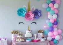 Idea de fiesta tematica de unicornio para niña