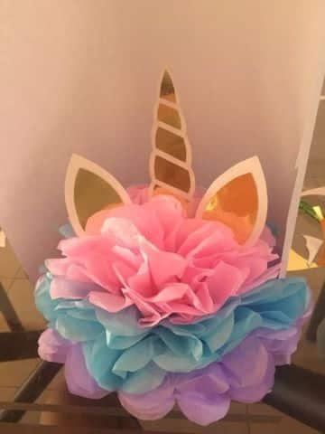fiesta tematica de unicornio para niña centros de mesa