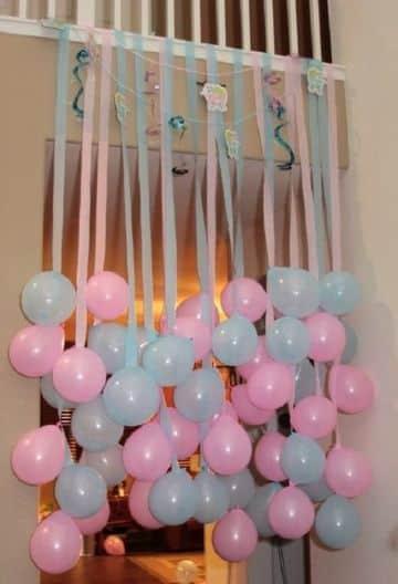 ideas para baby shower con globos