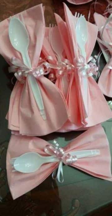 ideas para baby shower con servilletas