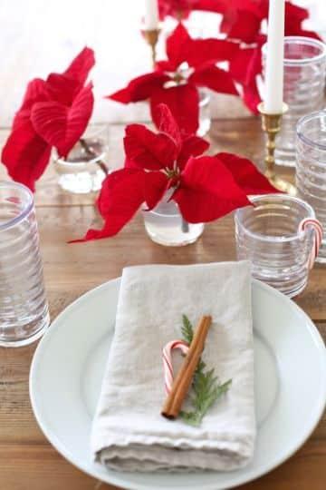 individuales para mesa navideños de color rojo