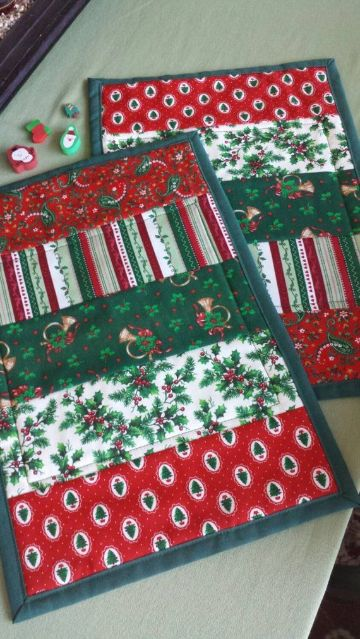 individuales para mesa navideños hechos a mano