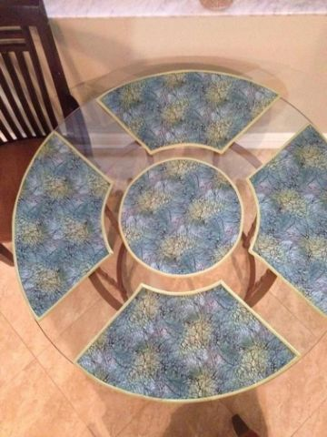 manteles individuales para mesa redonda estampados
