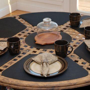 manteles individuales para mesa redonda unicolor