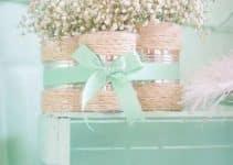 4 sencillas mesas decoradas para bautizo