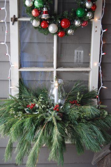 como decorar ventanas decoradas de navidad