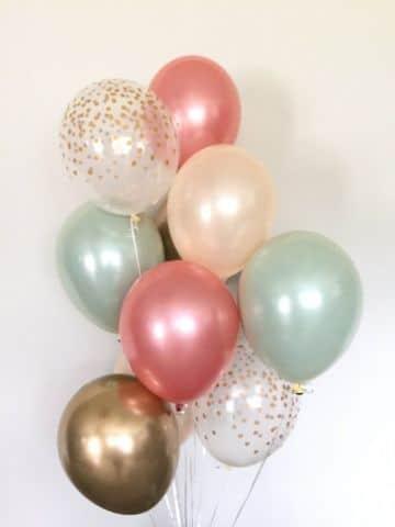 decoracion de globos para niños con globos metalizados