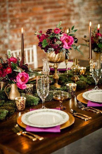 decoracion de mesa para 15 años de lujo