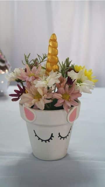 decoracion de unicornio bebe para cumpleaños
