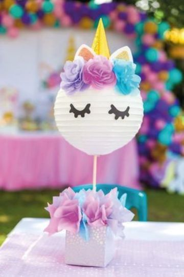 decoracion de unicornio bebe para fiesta