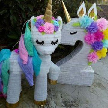 decoracion de unicornio bebe para niña de 2 años