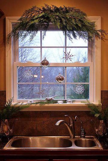 fabulosas ventanas decoradas de navidad
