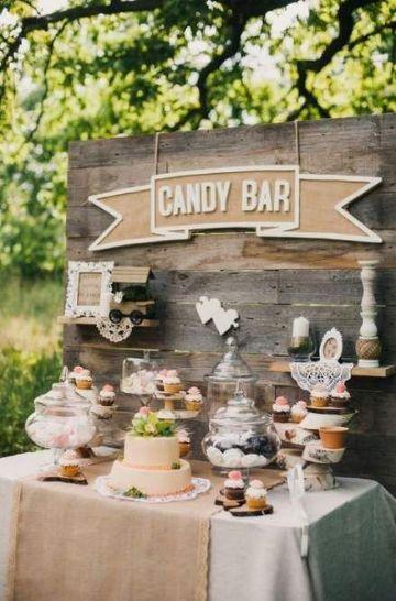 mesa de dulces para cumpleaños al aire libre