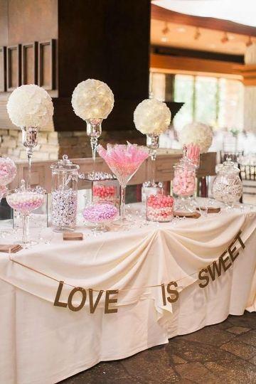 mesa de dulces para cumpleaños de chicas