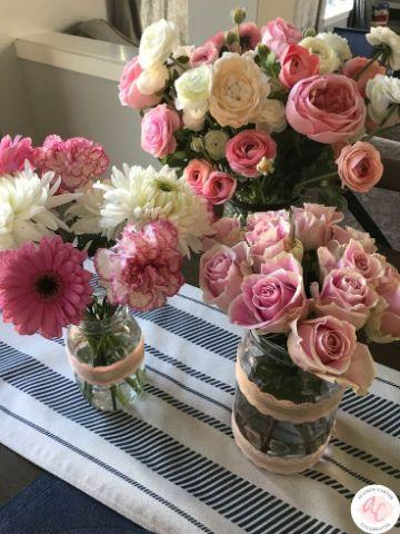 simples paso para arreglos de flores para cumpleaños