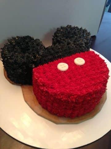 torta tematica de mickey mouse
