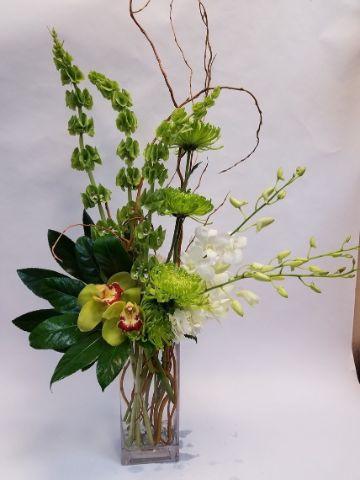 arreglos florales para hombres verdes
