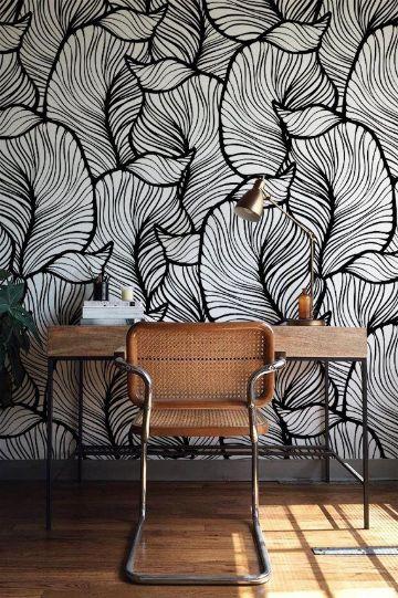casas con papel decorativo para pared