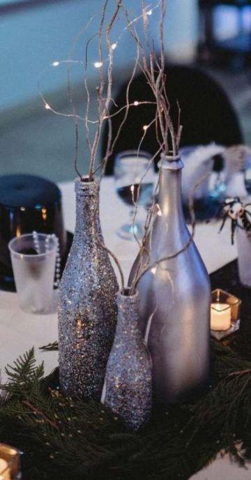 centros de mesa para 25 años boda de plata