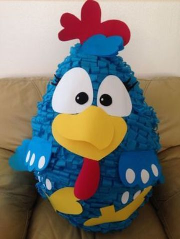 como hacer piñatas de gallina pintadita