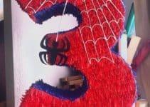 4 hermosas piñatas del hombre araña para niños