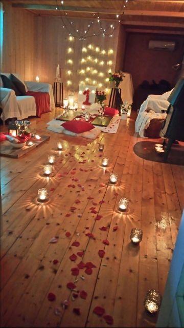 como hacer una decoracion para cena romantica