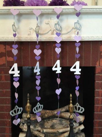 decoración para cumpleaños de princesa en casa