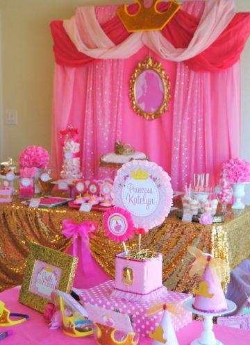 decoración para cumpleaños de princesa para niña pequeña