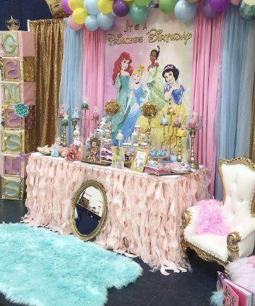 decoracion de las princesas disney para fiesta