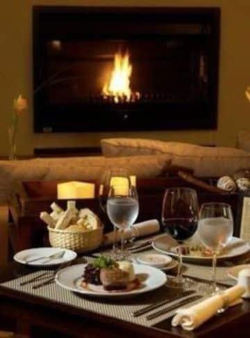 decoracion para cena romantica en casa
