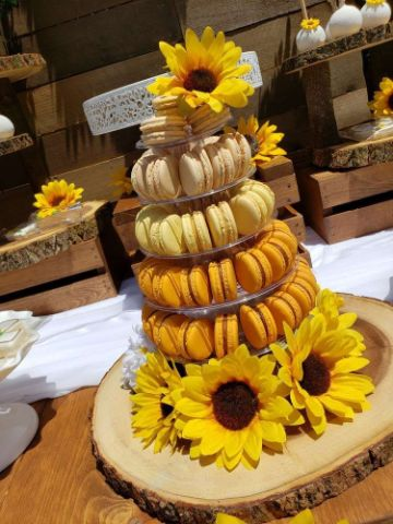 dulces fiesta de cumpleaños de girasoles