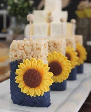 fiesta de cumpleaños de girasoles ideas