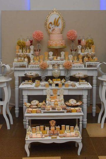 hermosas mesas de dulces para 15 años