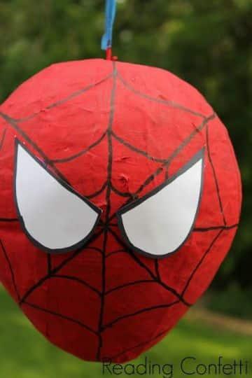 ideas para piñatas del hombre araña