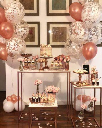 mesas de dulces para 15 años rosada
