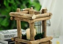 4 hermosos centros de mesa con palitos de madera