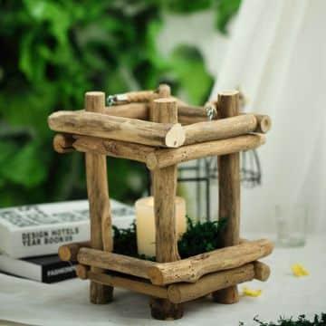 centros de mesa con palitos de madera paso a paso