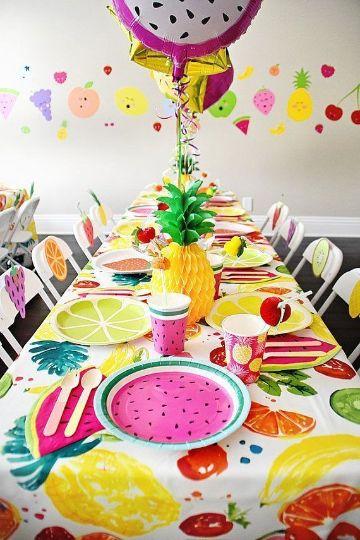 como decorar la mesa de cumpleaños para niñas