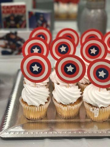 como hacer decoraciones de capitán américa