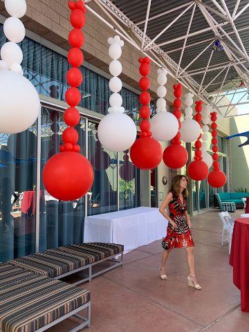 decoracion de globos en techo paso a paso