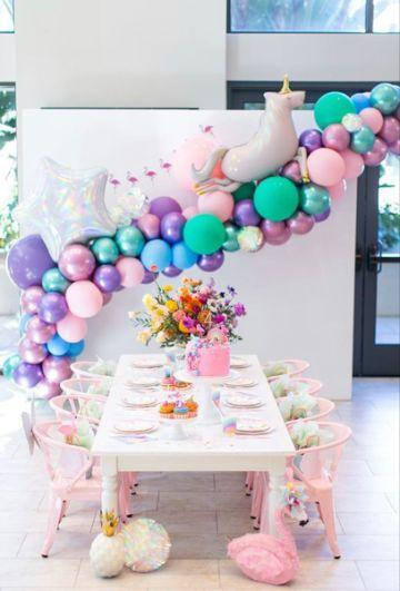 decoracion para cumpleaños de niña de 1 año para mesas