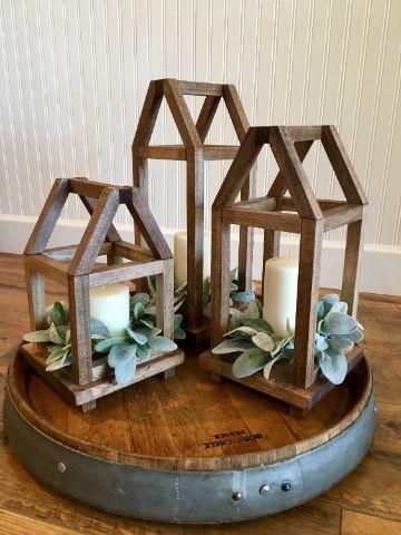 formas para hacer centros de mesa con palitos de madera