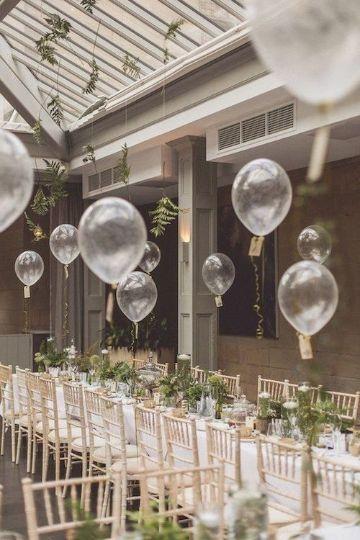 ideas para centros de mesa con globos para boda